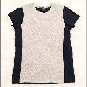 Vince gray/navy blue short sleeve t-shirt small